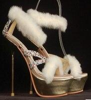 Cony украшение для волос сандалии на платформе роскошные золотые шарики для украшения Шелковый материал супер высокие металлические лезвия