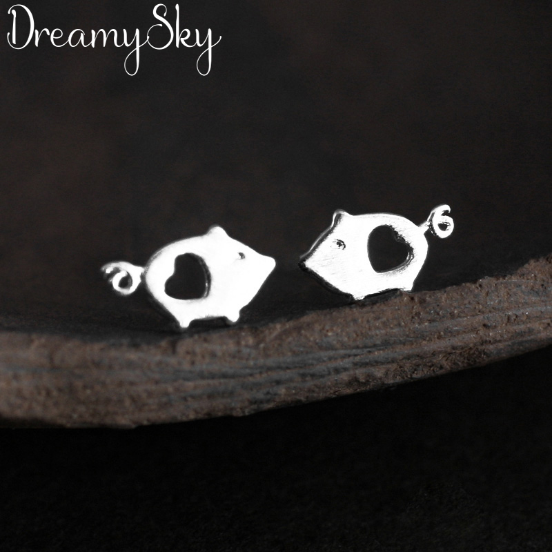 DreamySky Real Pure Pig Animal Earrings For Women Christmas Gift Fashion Jewelry Pendientes Brincos image