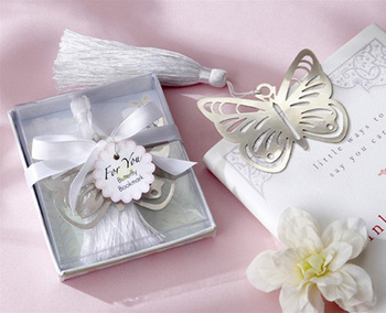 80pcs/lot butterfly bookmark for wedding decoration wedding baptism favors and gift for wedding party baby show Free shipping