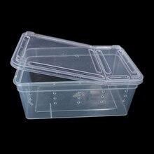 Террариум для рептилий прозрачная пластиковая коробка насекомых рептилий транспортная разведение живое питание кормушка
