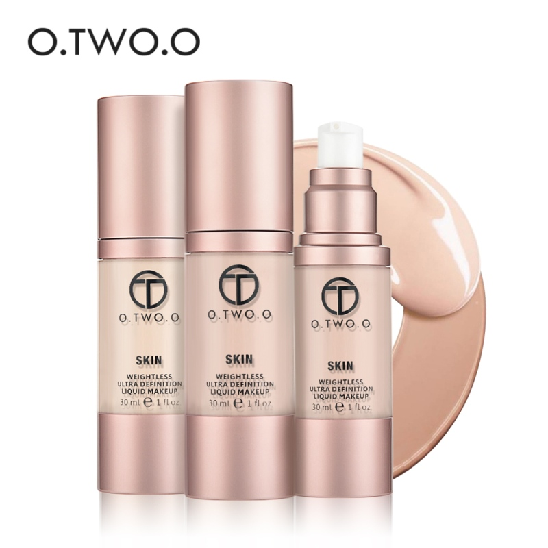 O.TWO.O Brand Liquid Foundation Weightless Ultra Definition Liquid Makeup Foundation Cream Oil-control Face Foundation Base