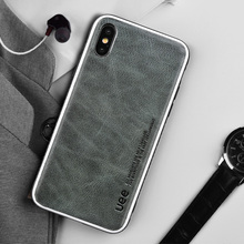 Genuine Leather phone case for iphone 8 plus 6 7 fashion shockproof covers x Business leather xr