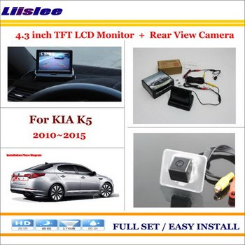 "Liislee For KIA K5 2010~2015 Car Reverse Rear Camera + 4.3"" TFT LCD Monitor = 2 in 1 Parking System"