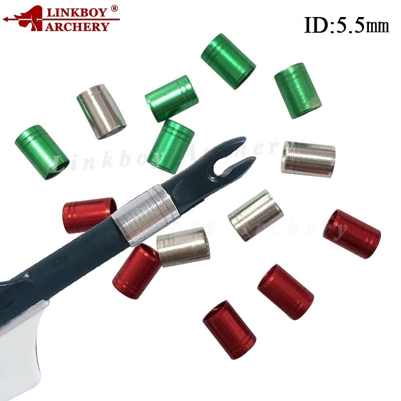 50x Linkboy archery aluminum arrow nock pin shaft ID 6.2mm Compound Recurve Bow