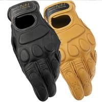 100% Genuine Leather Vintage Motorcycle Gloves Racing Knight Luvas Dain blackjack 1972 Locomotive mountain bike Gloves