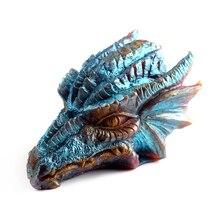 3D סיליקון סבון עובש DIY דרקון בצורת טבעי בעבודת יד עובש מלאכת שרף קישוט כלי