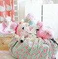 Cuidados mãe Flamingos Sacos Bolsa Crianças Brincam Esteira Do Jogo Do Bebê cobertor Brinquedos Saco De Armazenamento de Lona Múmia opbergtas Viagem Tapete Rodada zak