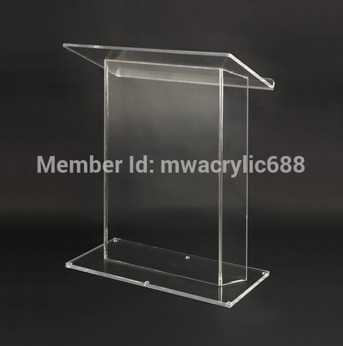 Free Shipping HoYodeMonterrey Price Reasonable Acrylic Podium Pulpit Lectern Podium Plexiglass