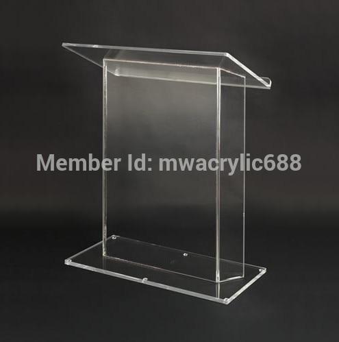 Free Shipping HoYodeMonterrey Price Reasonable Acrylic Podium Pulpit Lectern Podium Plexiglass