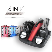PRITECH Professional Hair Clipper 6 In 1 Hair Trimmer Shaver Sets Electric Shaver Beard Trimmer Hair Cutting Machine