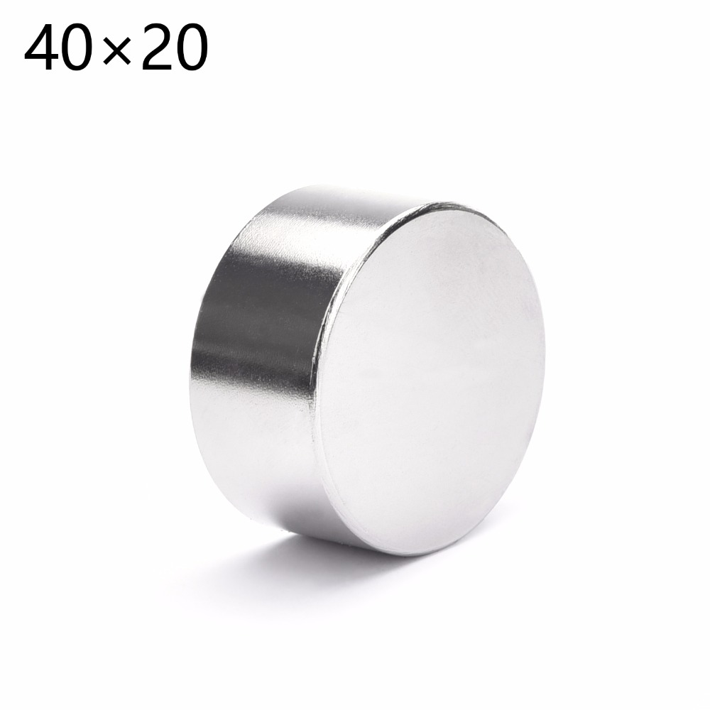 2PCS 40mm x 20mm 40x20   Round Cylinder Neodymium Permanent Magnets 40*20 NEW Art Craft Connection APS0542 2 pcs new 44mm cylinder