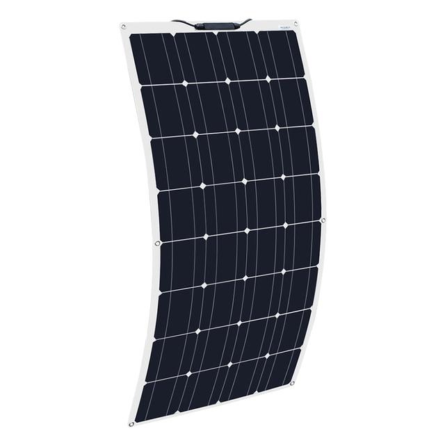 2Pcs 4Pcs 10Pcs 100W solar panel Monocrystalline Solar Cell Flexible for Car/Yacht/Steamship 12V 24 Volt 100 Watt Solar Battery 2