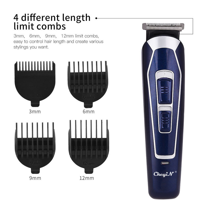 Electric Hair Clipper Rechargeable Shaver Low Noise Professional Hair Trimmer Cordless Men's Hair Cutting Machine Beard Trimer42