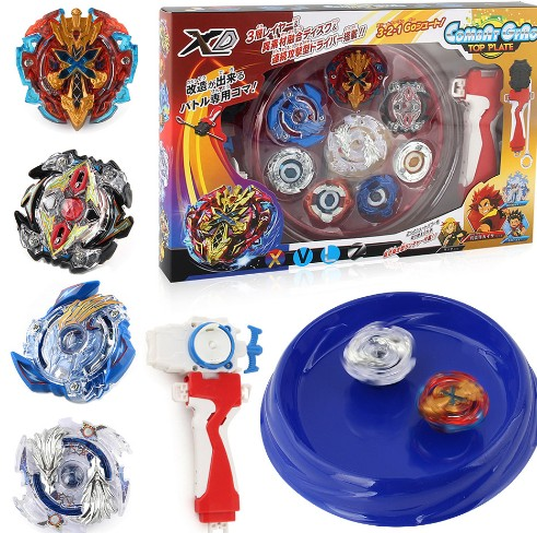 bayblade new 4PCS Boxed bayblade Beyblade Burst 4D Set With Launcher Arena Metal Fight Battle Fusion Classic Toys Original Box топор fusion battle ax sog