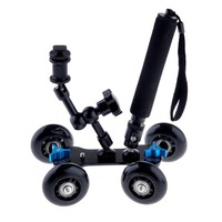 3 in 1 Flexible Rail Rolling Track Slider Skater Dolly Car+7 Magic Arm+Extendable Selfie Monopod with Attached Tripod Mount