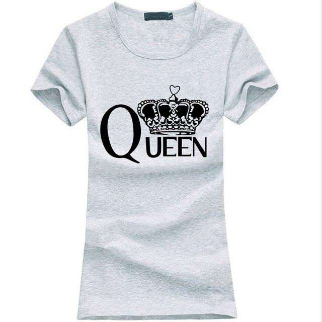 Fashion queen Letters print women t-shirt 2019 summer funny Cotton Slim Tee shirt Femme harajuku Hipster brand kawaii punk tops