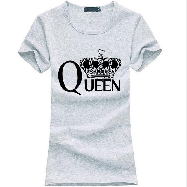Rainha da moda Letras imprimir t-shirt das mulheres verão 2019 engraçado Algodão Fino camiseta Femme harajuku Hipster marca kawaii topos do punk