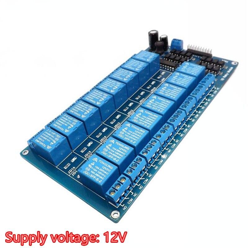 Sechzehn 16 Kanal Relais Modul Interface Board für arduino Mit Optokoppler Schutz DC 5 v 12 v