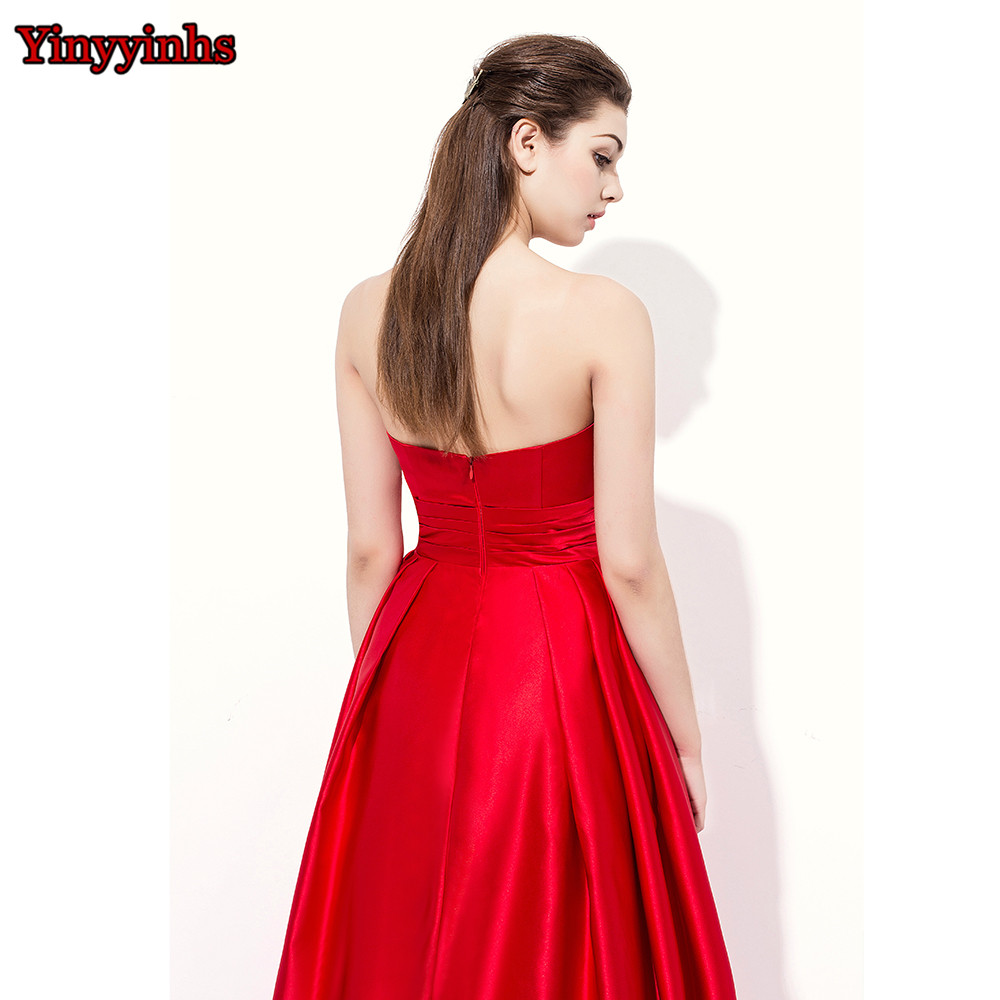 0ba4cd424649b Yinyyinhs Vintage Strapless Long Winter Wedding Party Guest Long Bridesmaid  Dresses Plus Size Navy Blue Red Burgundy CG29-in Bridesmaid Dresses from ...