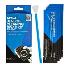 Kit découvillon de nettoyage de capteur de cadre de APS C professionnel VSGO 10 pièces paquet pour DSLR caméra capteur lentille téléphone écran clavier et lunettes.