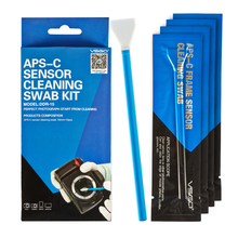 Skilled VSGO APS-C Body Sensor Cleansing Swab Package 10pcs Pack For DSLR Digital camera Sensor Lens Telephone Display Keyboard and Glasses.