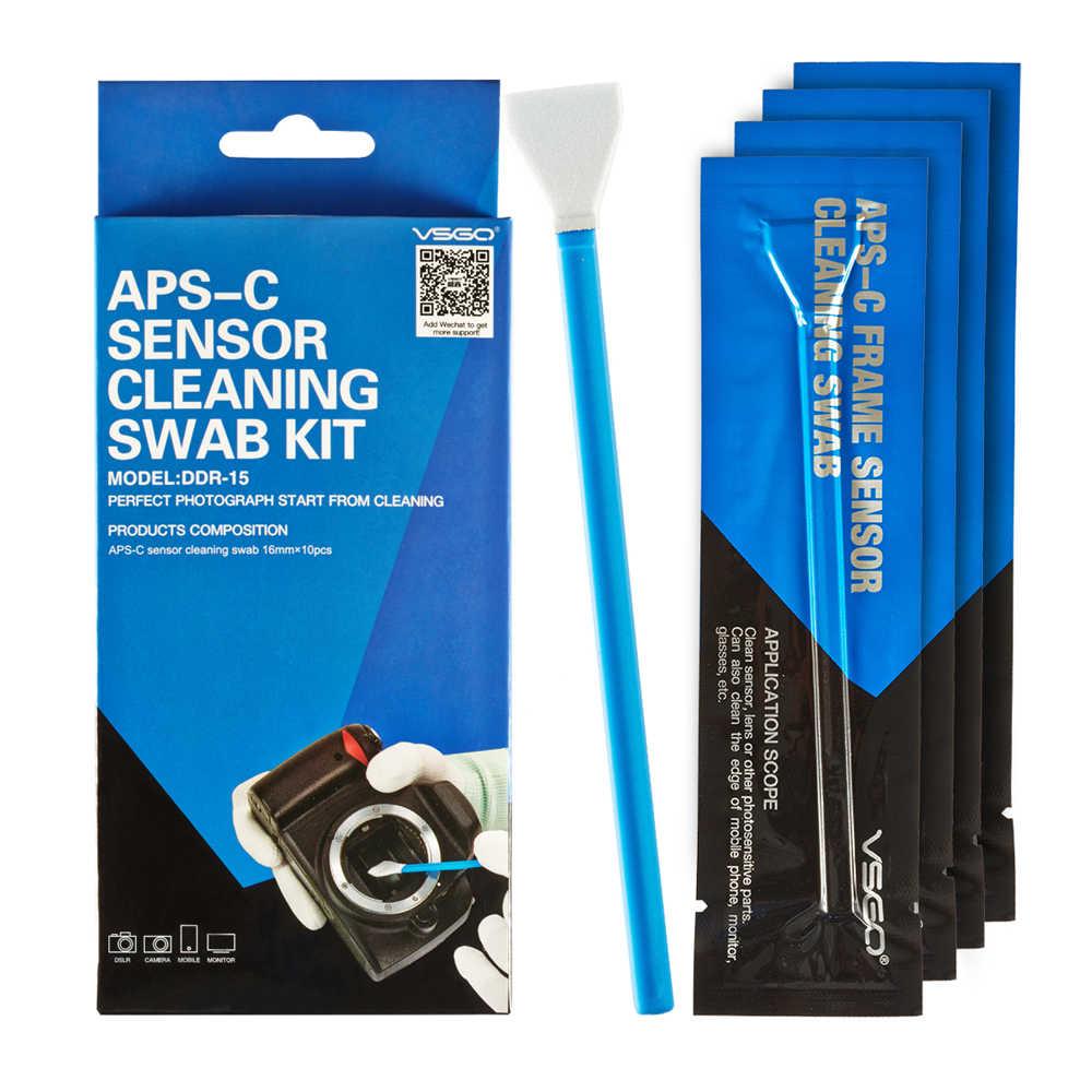 מקצועי VSGO APS-C מסגרת חיישן ניקוי ספוגית ערכת 10pcs חבילה עבור DSLR מצלמה חיישן עדשת טלפון מסך מקלדת משקפיים.