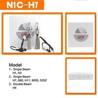 bulb 12v SHUOKE Mini Super LED H7 LED Head Light Car H7 White Bulb Cree Chip Copper Belt 12V 30W 6000K 2400Lm Free Shipping With Canbus (4)