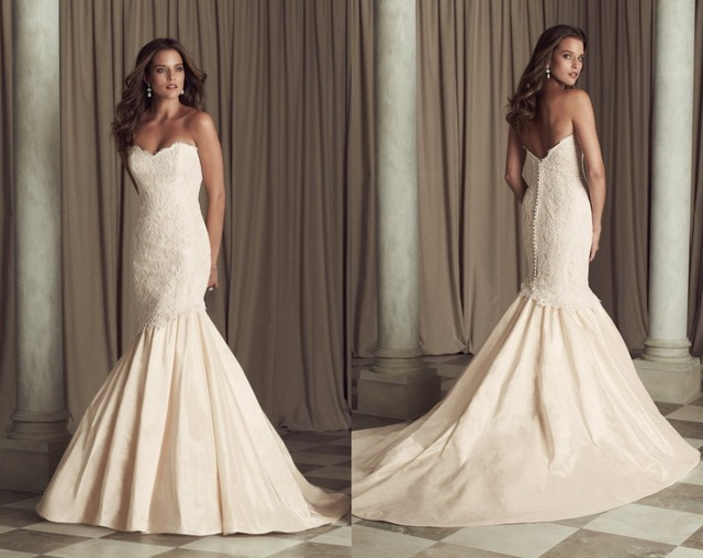 2013 Lace Mermaid Wedding Dresses paloma blanca 4450 Sweetheart ...