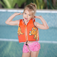 2 6 Years Cute Dinosaur Life Vest for Kids Life Jacket Children Float Foam Vest Baby Swim Trainer Water Pool Toddler Swimwear