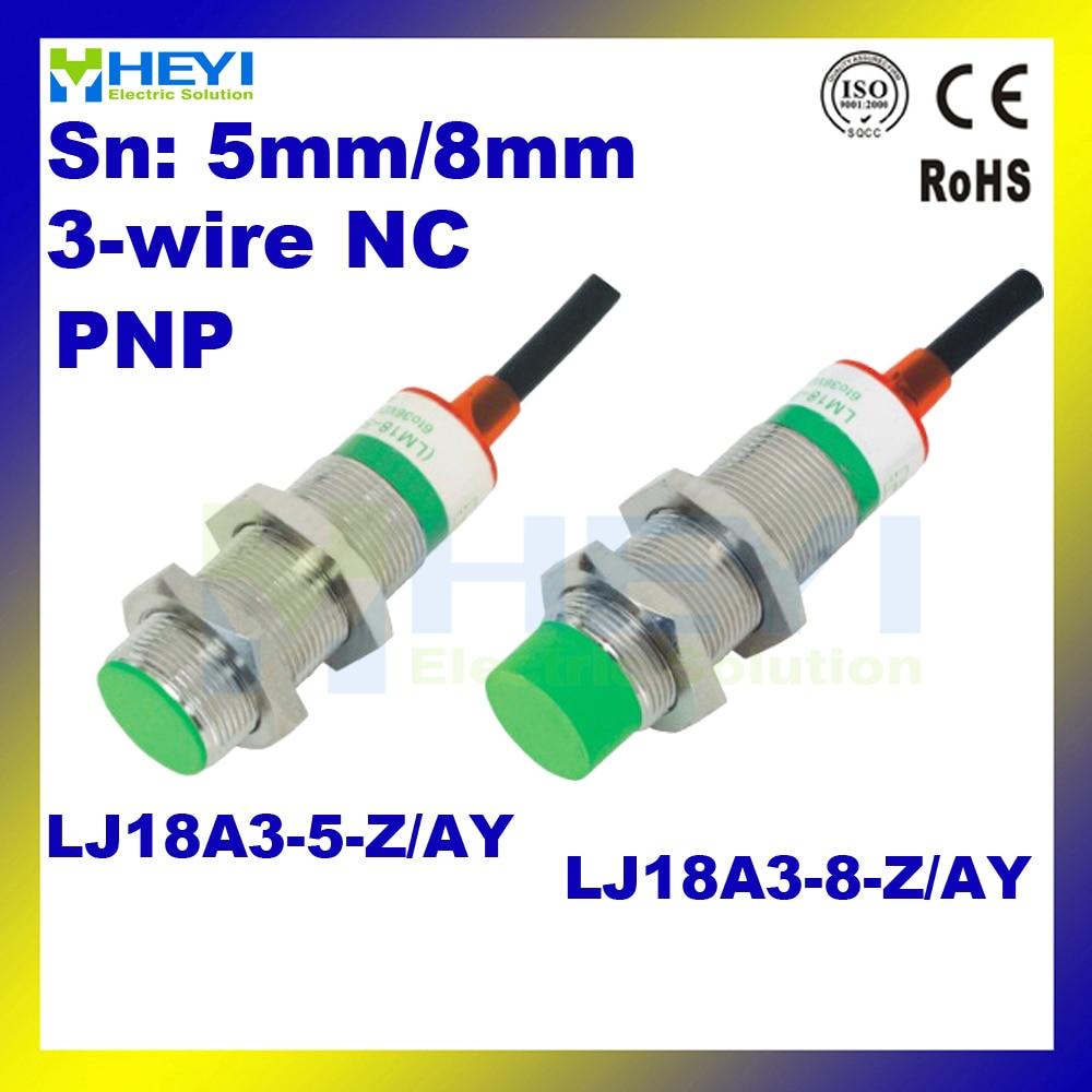 5pcs lot lj18a3 5 z ay or lj18a3 8 z ay inductive proximity switch pnp 3 [ 1000 x 1000 Pixel ]