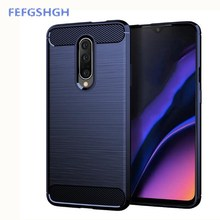 Carbon Fiber Cover For OnePlus 7 Pro Case Rubber Silicone Phone Cases For OnePlus 7 Pro Back Case