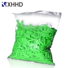 M6 M8 Green Plastic Expansion Tube Plastic Pipe Nylon Bulge Anchor The Rubber Plug Drywall Screw