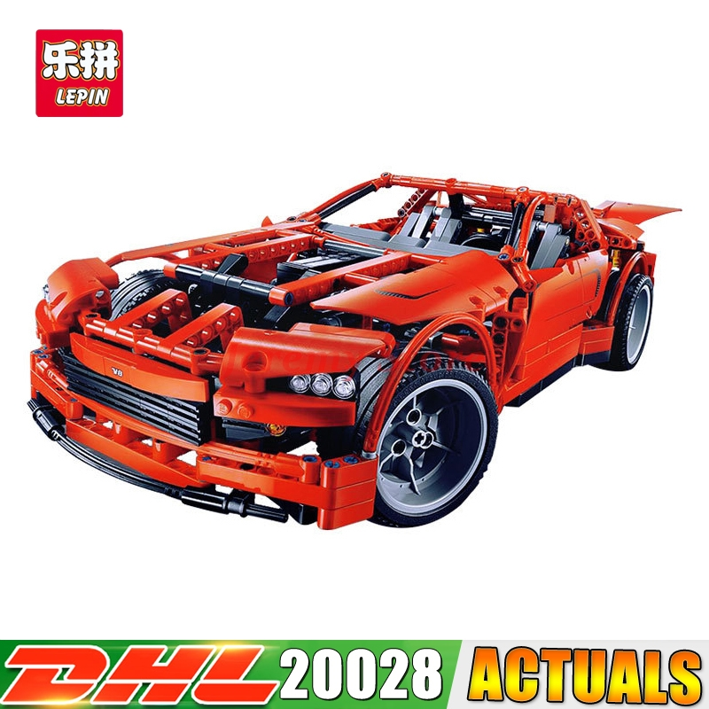 DHL LEPIN 20028 Technic Series Super Car Assembly Toy Car Model Building Block 1281Pcs Bricks Toys Gift For Gift 8070 lepin 22001 pirate ship imperial warships model building block briks toys gift 1717pcs compatible legoed 10210