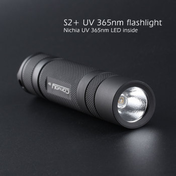 Convoy S2+ black UV 365nm led flashlight ,nichia 365UV in side ,OP reflector,Fluorescent agent detection socket wrench