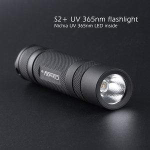 Image 1 - Convoy S2 + สีดำ UV 365nm ไฟฉาย LED Nichia 365UV ด้านข้าง,OP reflector,Fluorescent Agent DETECTION