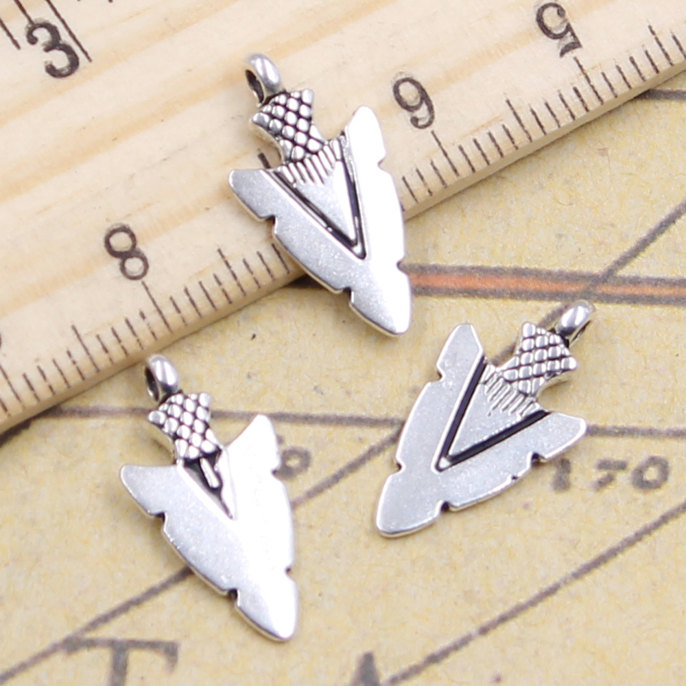 10pcs Tibetan Silver  stiletto  Charm Pendant Bead Jewellery Making 20*28mm