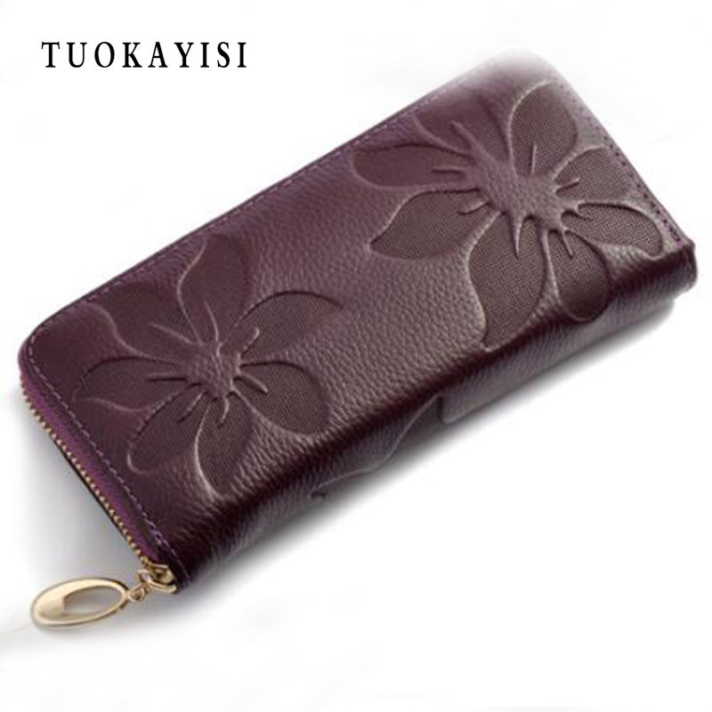Brand New Fashion Women Wallet Genuine Leather Lady Long Wallets Female Casual Zipper Tassel Purse Clutch Money Clips Colors baellerry brand new fashion women wallet leather wallets women wholesale lady purse high capacity clutch bag women gift 7 colors