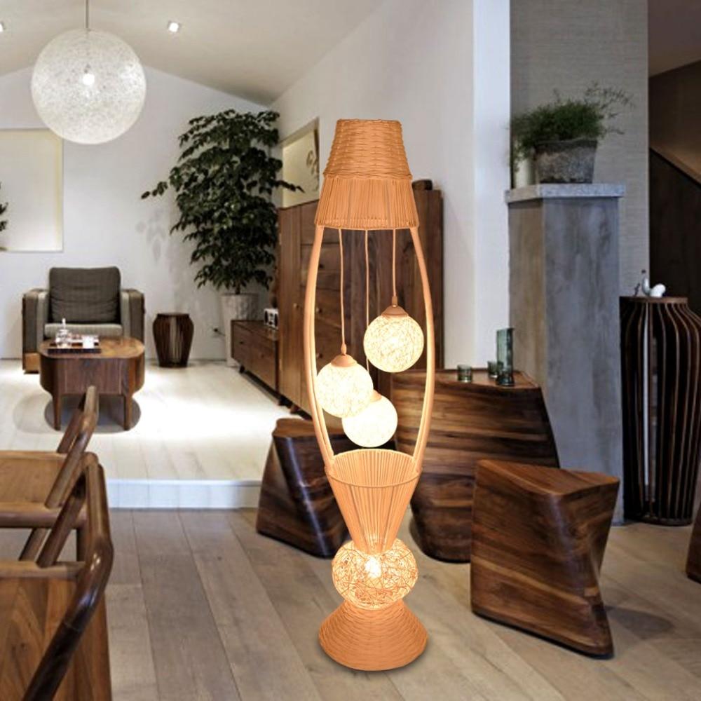 цена на Southeast Asia Floor lights cane art sitting room bedroom study hotel originality warmth romantic Floor Lamp floor light LO7148