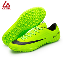Professional Soccer Cleats Shoes Low Top TF Adult Kids Soccer Football Boots Trainer Outdoor Sports Sneakers Men chuteira futsal