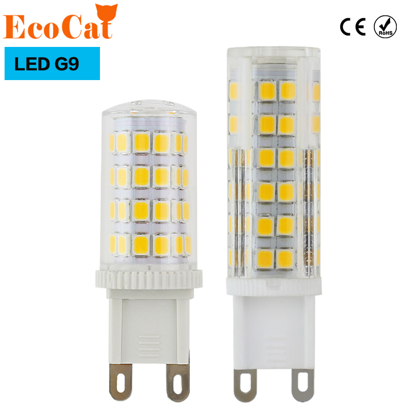 ECO CAT LED G9 G4 Bulb LED Corn lamp COB 220V 5W 7W 9W  Replace Halogen Lamp Led Spotlight  Crystal lampada for Chandelier lanchuang dc12v g4 led bulb 3w 5w 6w led g4 lamp light for crystal chandelier g4 led lights lamp replace halogen spotlight