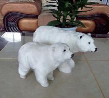 WYZHY Big small simulation polar bear fur animal home decoration movie props size  30cm 20cm