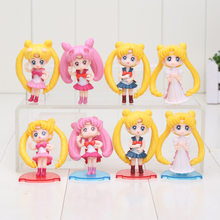 4Pcs/lot 5cm Sailor Moon Action Figure Tsukino Usagi Sailor Mars Mercury Jupiter Venus Saturn PVC Figure Kids Toy(China)