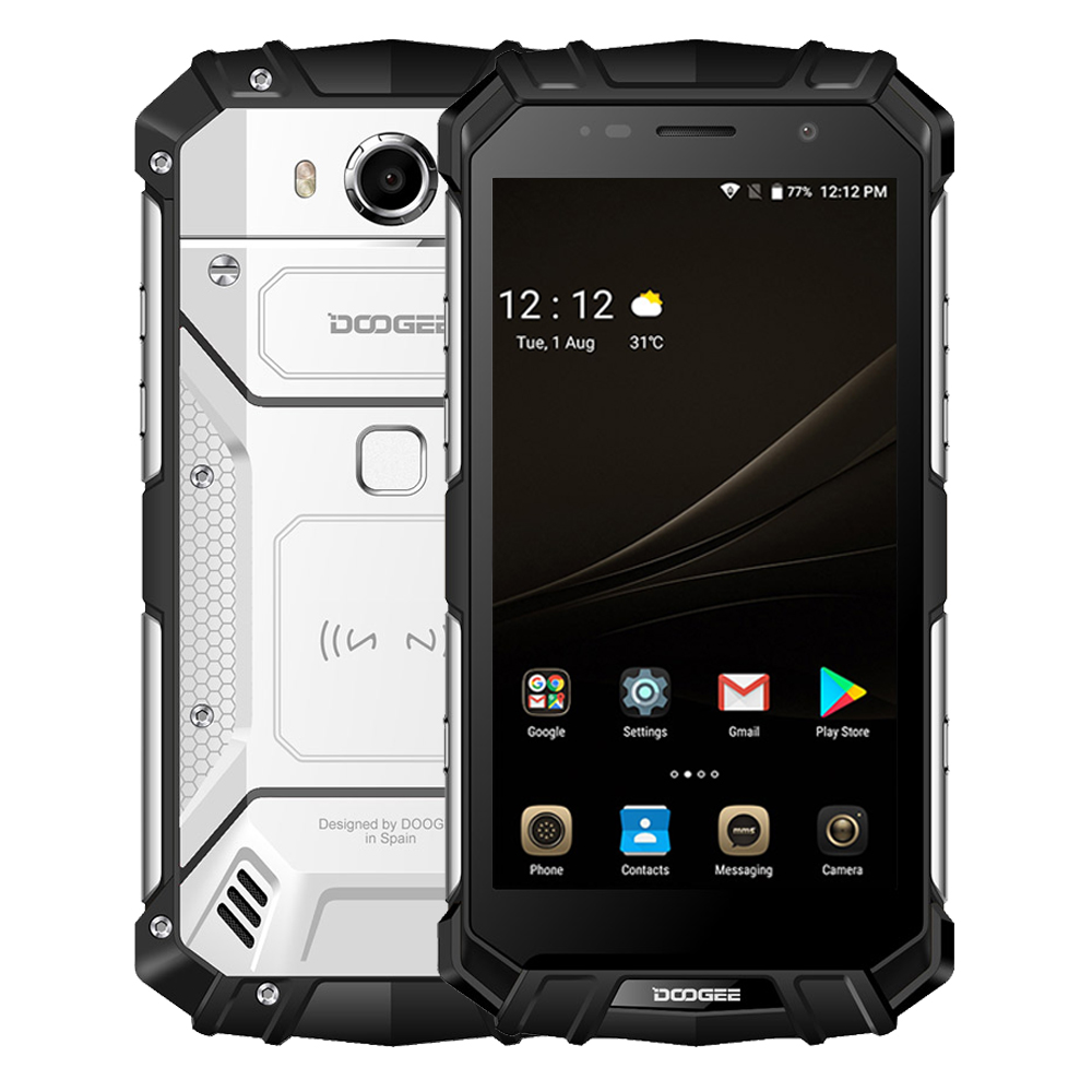DOOGEE S60 Mobile Phone 5.2 Android 7.0 Helio P25 Octa Core 6GB 64GB 5580mAh Quick Charge 21MP 4G Global Version Rugged Phone
