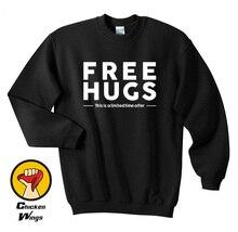 Free Hugs Funny Gift Unisex Top Crewneck Sweatshirt Unisex More Colors XS - 2XL цены