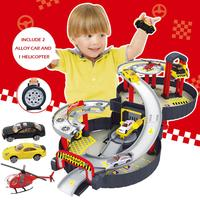 Garage Toys Spiral Roller Rail Alloy Vehicles Kids City Tire Parking Garage Toy Car Truck Vehicle Auto Model Children Play Set