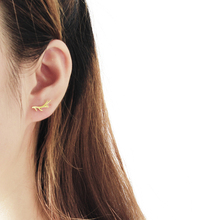 V Attract 2018 Gold Silver Nature Branch Antlers Stud Earrings Woodland Jewelry Stainless Steel Boucle D'oreille Femme