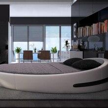 Mybestfurn Italy Design Luxury Large Size Leather Soft Beds
