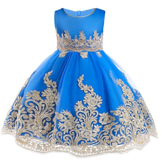 Baby Children Girl Dress 2019 Kids Ceremonies Party Dresses Flower Princess Wedding Gown Baby Girl Christmas Dress 2-12 Y
