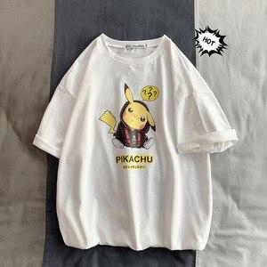 Image 4 - camisetas de hombre moda Animal Pikachu estampado Hipster divertida camiseta hombres verano Casual calle hip hop Camiseta Hombre