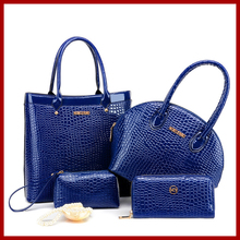 Nueva marca mujer bolsa bolsos de moda mujeres de alto grado de lujo de cuero bolso ladies mujeres messenger bags bolsas 4 sets